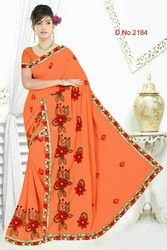 Multi work sarees