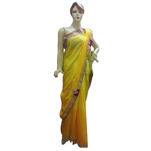 c032cf2e0d Yellow Chiffon Ladies South Indian Saree, Packaging Type: Box, Rs ...