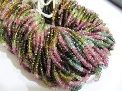 Multi Color Tourmaline Beads Roundel Faceted