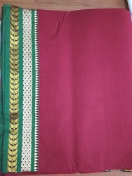 Handloom Cotton Saree, Length: 6 m (with blouse piece)