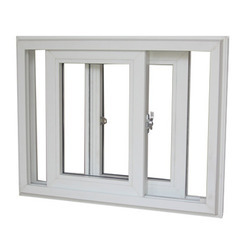 Plain White UPVC Sliding Window