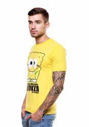 Gujrati Spongebob Round Neck T Shirt