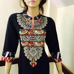 Rayon Embroidery Long Kurti