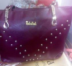 Zara Maroon Ladies Bag