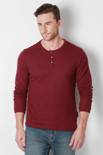 3a198ab351d Peter England Full Sleeves Maroon T Shirt at Rs 999