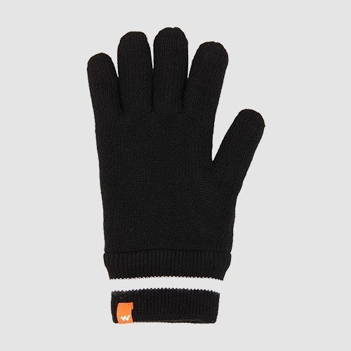 Wildcraft Acrylic Gloves for Winter - Anthracite Black