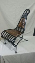 Wrought Iron Wooden Chair ITEM CODE 129