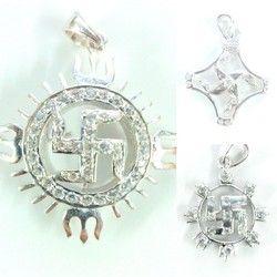 925 Sterling Silver Swastik Pendant100