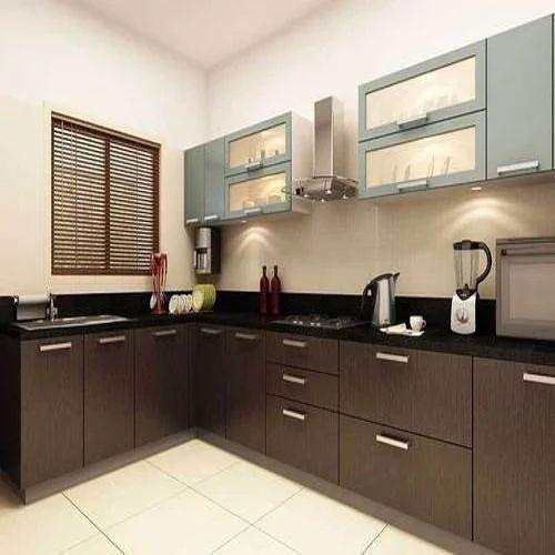 L Shaped Modular Kitchen, एल आकार की मॉड्यूलर रसोई, एल शेप