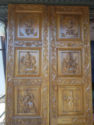 Teakwood Temple Door