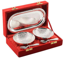 Silver Plated 5 Pcs Bowl Set