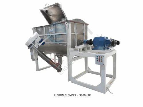 Stainless Steel Ribbon Blender - 3000 Liter SS 304 STD Model, Model Number/Name: Srb3000