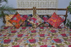 Tropical Printed Kantha Quilt