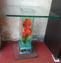 Glass Corner Table