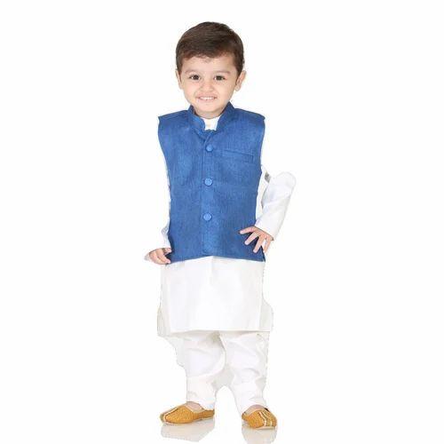 931a4e2412 Cotton Kids Modi Or Nehru Jacket With Kurta Pyjama, Rs 750 /piece ...