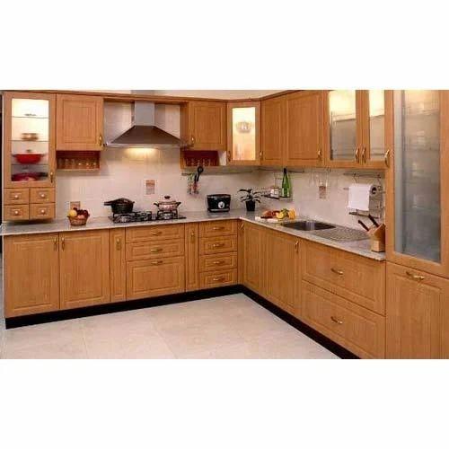 L Shaped Modular Kitchen, Modular Kitchen