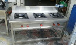 1 Mat Finish Indian Commercial Gas Stove, Burner Material: Casting, Number Of Knob: 2