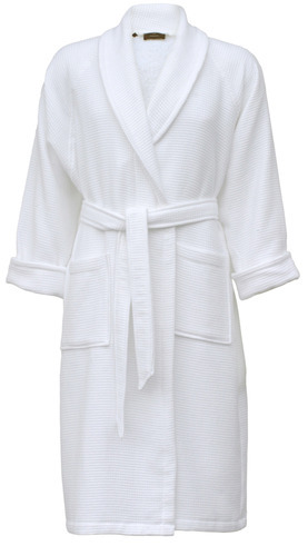 a107d0b72e White Cotton Towel Bathrobe