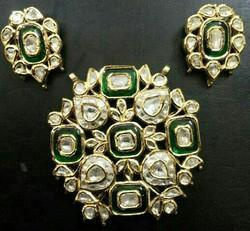 Polki pendant set in jaipur rajasthan manufacturers suppliers polki pendent set aloadofball Images