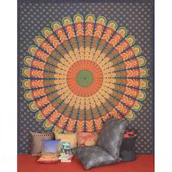 Indian Handmade Mandala Printed Wall Decor Tapestries
