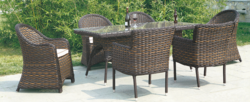 Rattan Style Outdoor Wicker Dining Table Set