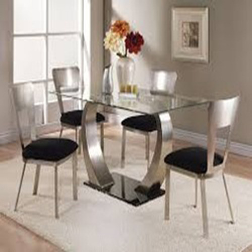 Glass Dining Table Set, Dining Table Set - Naadathi Furn, Chennai ...