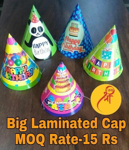 Big Laminated Birthday Cap Size 18 Cm And