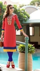 Cotton Designer Straight Cut Kurtis