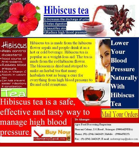 Loose And Box Hibiscus Flower Tea Rs 800 Kilogram Agro Food