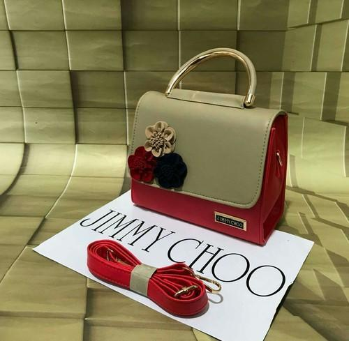 4dc67669cb5a Jimmy Choo Maroon And White Sling Bag