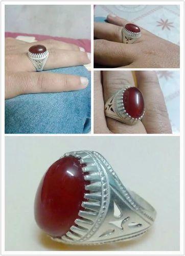 Aqiq Agate Stones Ring Nageene Wali Angoothi नग वाली अंगूठी Panjetani Gemstones Amp Rings