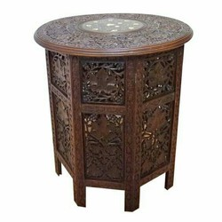 Royal Brown Antique Wooden Table, For Home