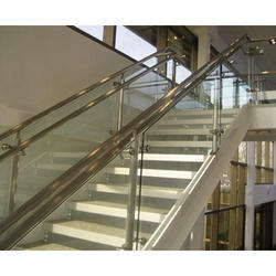 Mild Steel Glass Railing