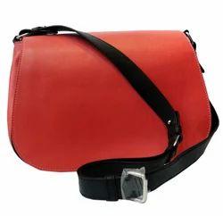 Ladies Cross Body Bag In Orange