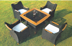 Sofa Style Outdoor Wicker Coffee Set