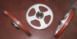 White Printing Aluminium Silicone Rubber Wheel, for Trolley