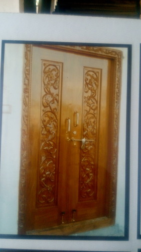 Teakwood Main Door Double Shutters Sai Srinivasa Wood