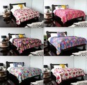 Fruit Print Kantha Quilt Floral Kantha Bed Cover