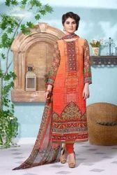 Orange Georgette Salwar Suit