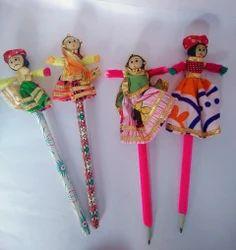 Rajasthani Puppets Pencil