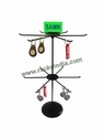 Table Top 2 Level Revolving Stand For Key Chains