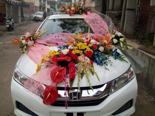Happy Birthday Flowers And Balloons ~ Car flowers n balloons decoration the secret garden patna id