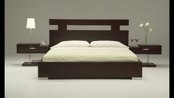 Cherry Wood Modern Simple Bed, Size: 6'x6'