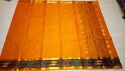 Silk Cotton Plain Uppada Cotton Saree, Hand, 6 m (with blouse piece)