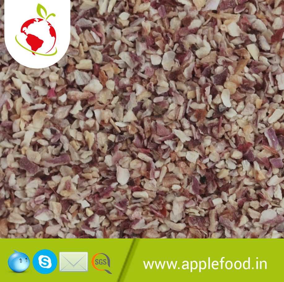 Apple Food RED/WHITE/PINK Dried Onion Minced, Pack Size (kilogram): 20 Kg, Packaging: Plastic Bag or Polythen