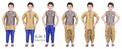 Silk Blue Boys Indian Wear