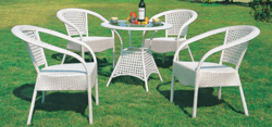Hibiscus Style Wicker Outdoor Coffee Set