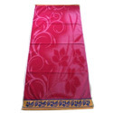 Pink Cotton Velour Jacquard Bath Towel