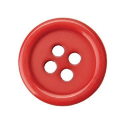 Red Plastic Garment Button, for Garments