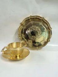 Gold  Lining Shiny Platter